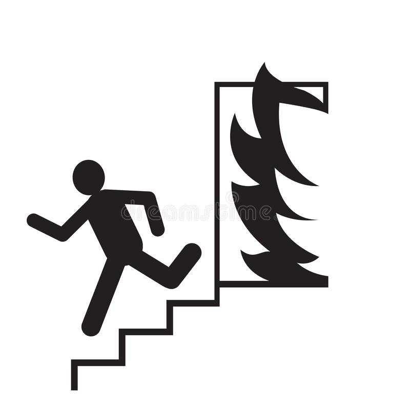 Fire Exit Signs Stock Illustrations