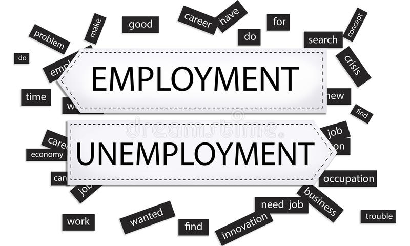 Employment And Unemployment Stock Illustration