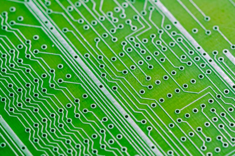 Circuit Board With Electronic Components Royalty Free Stock