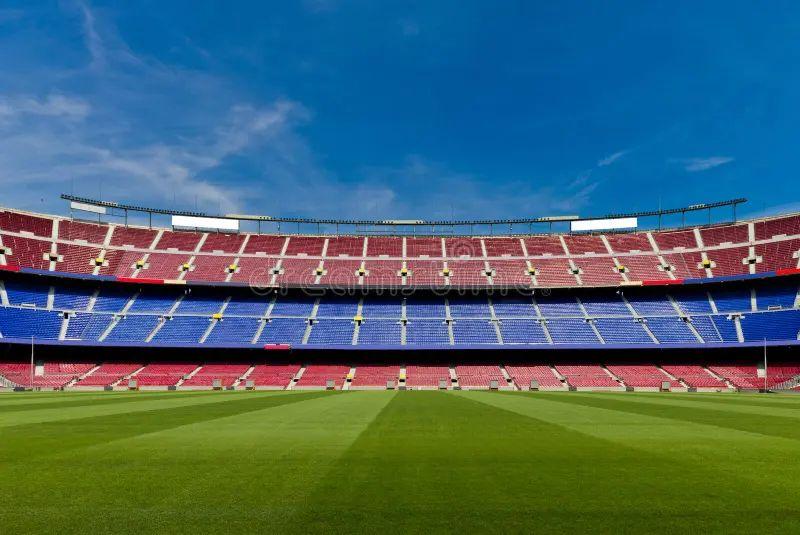 empty football stadium royalty free stock photo