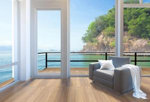 living empty windows interior sea overzeese interno mare vista vacation achtergrond rendering vuota rappresentazione stanza woonkamer illustrazione salone leeg vensters