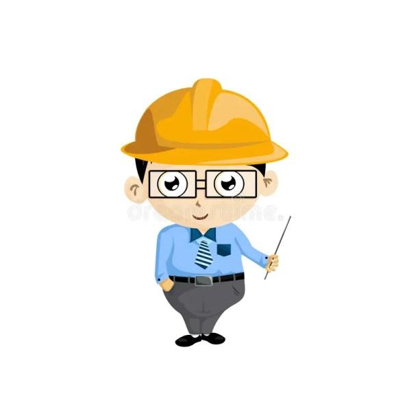 Engineer Stock Vector. Illustration Of Little Career