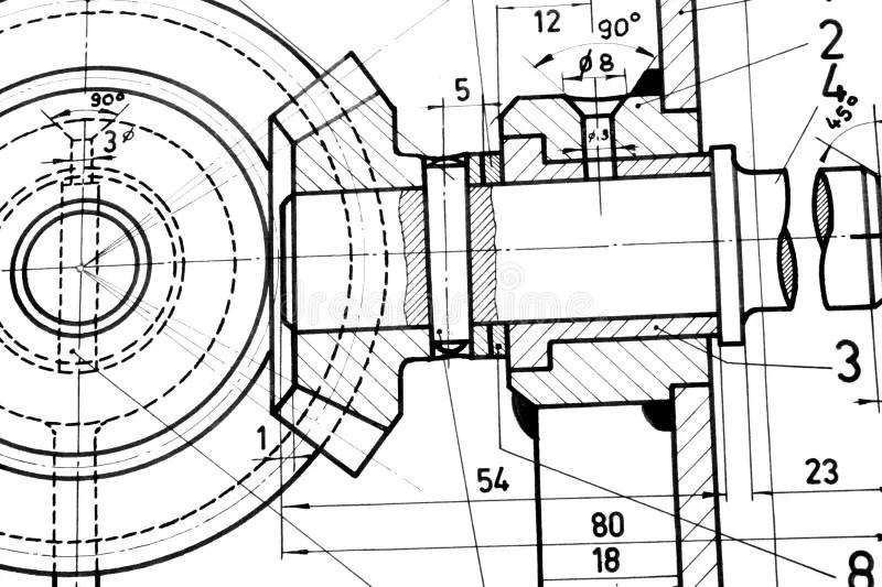 Engineering blueprint stock image. Image of build