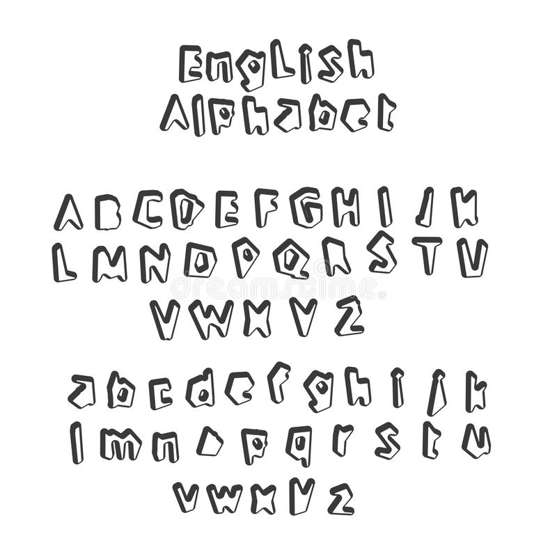 English alphabet letter stock vector. Illustration of