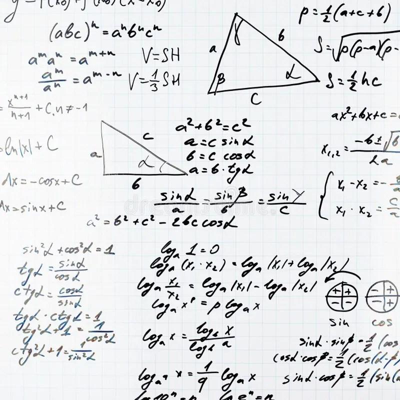 Equações E Fórmulas Da Matemática Do Trigonometria Imagem