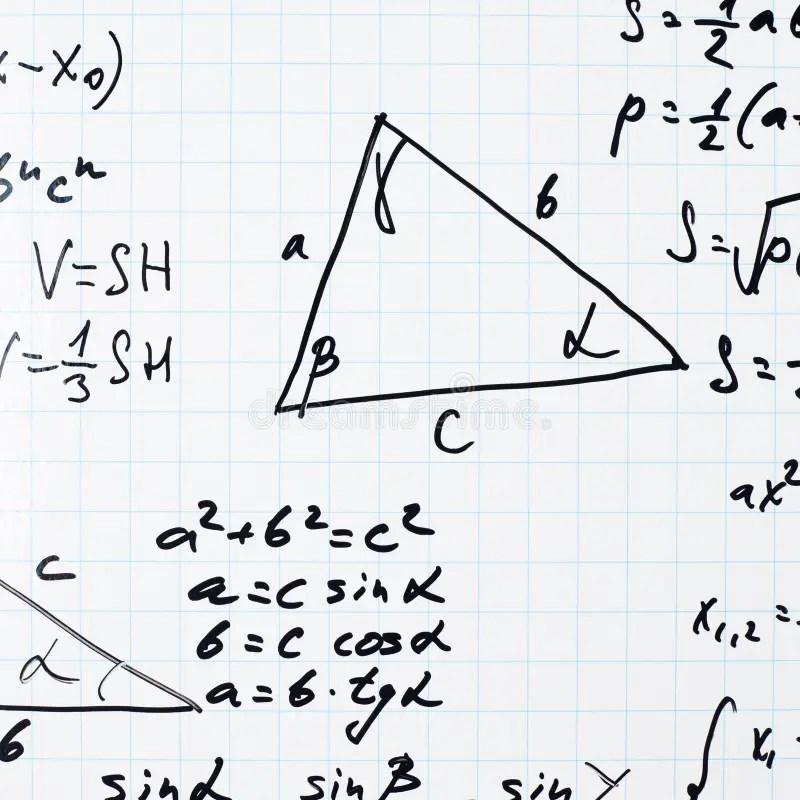 Equazioni E Formule Di Per La Matematica Di Trigonometria