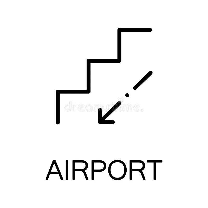Escalator Flat Icon Or Logo For Web Design. Stock Vector
