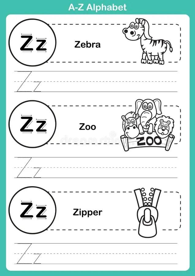 Esercizio Di Az Di Alfabeto Con Vocabolario Del Fumetto