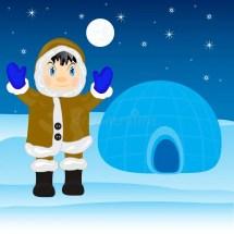 Eskimo Igloo Stock Vector. Illustration Of Amusing