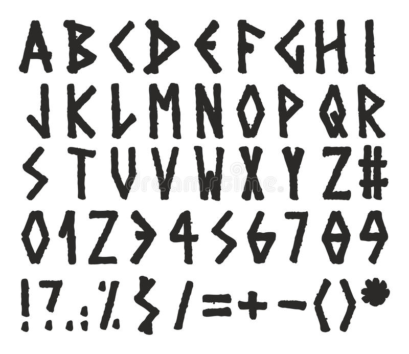 Alfabeto Grego De Grunge Do Vetor Ilustração do Vetor