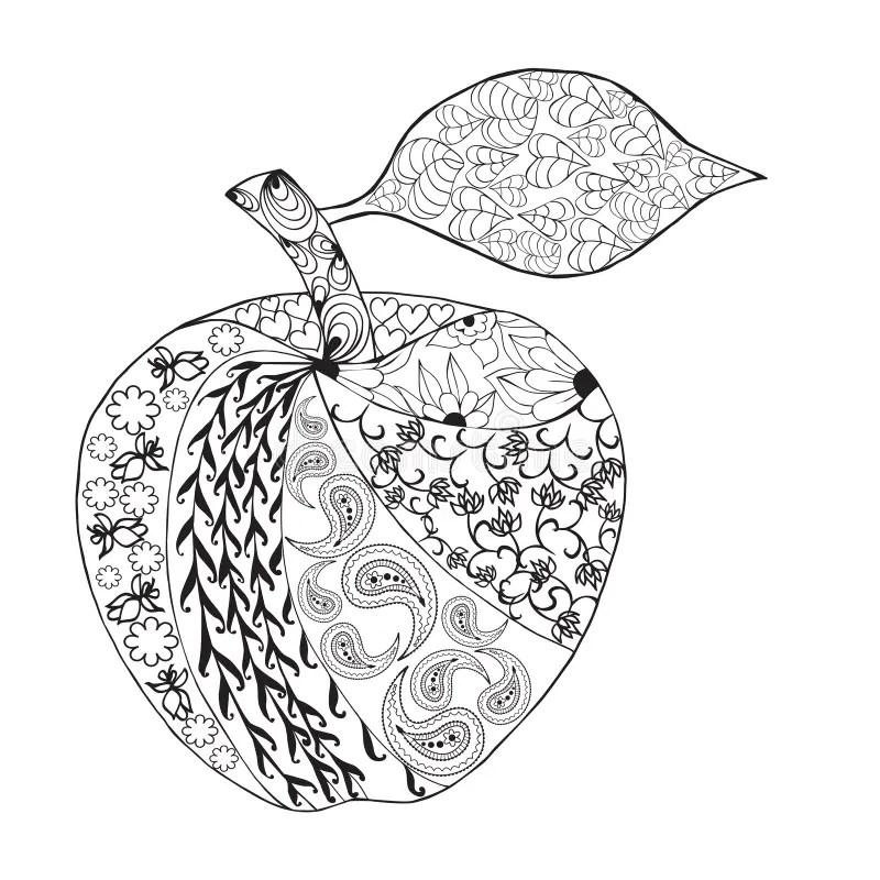 Libro De Colorear Para Apple Ilustraciones Stock, Vectores