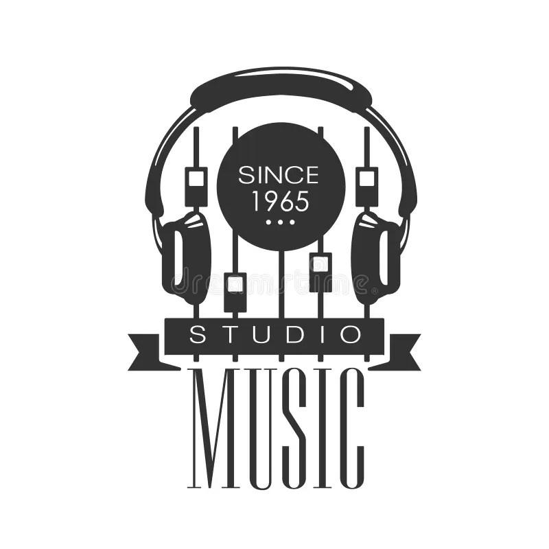 Estudio De Registro Logo Template With Sound Recording