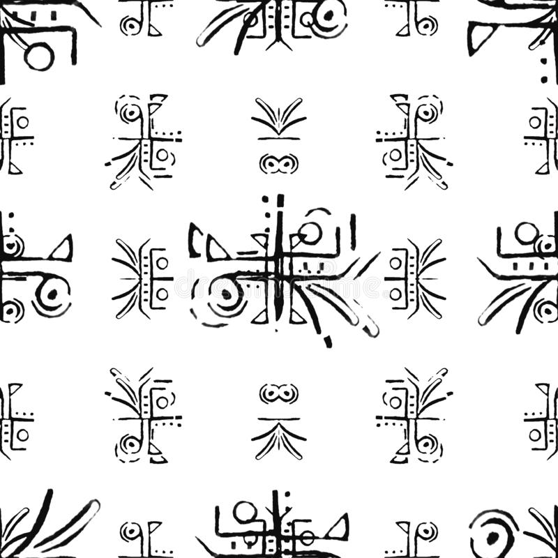 Primitive Symbols Pattern stock image. Image of symbols