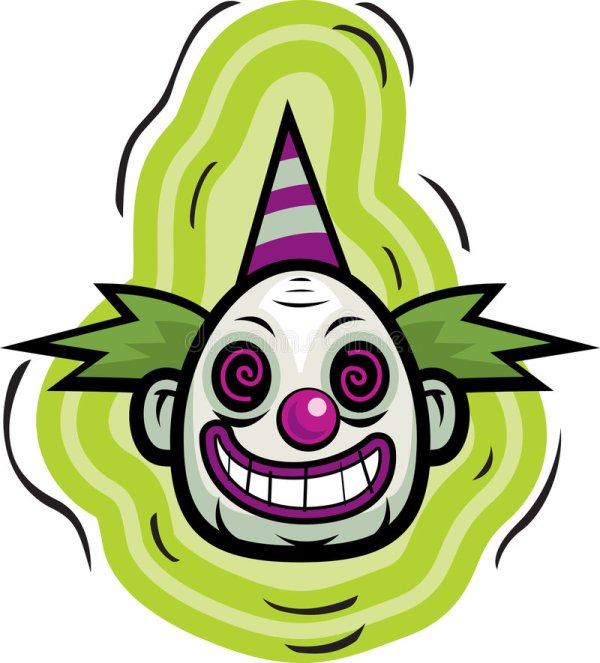 evil clown stock vector
