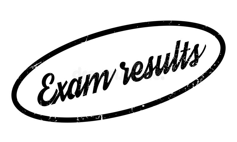 Exam Results rubber stamp stock vector. Image of button