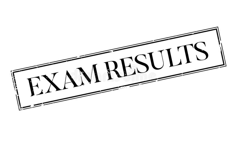Exam Results rubber stamp stock vector. Illustration of