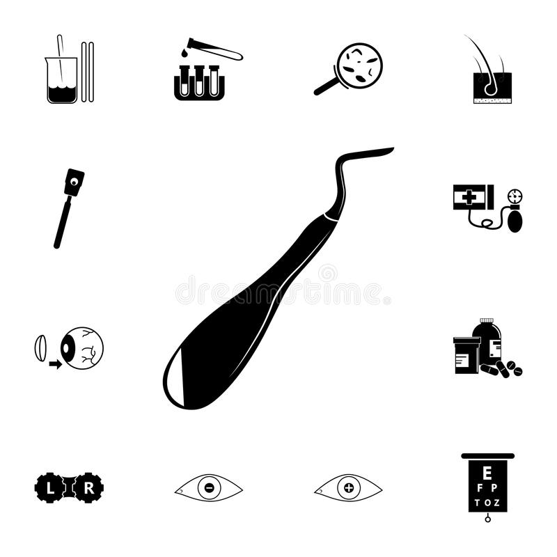 Excavator Dental Icon. Element Of Medical Instruments