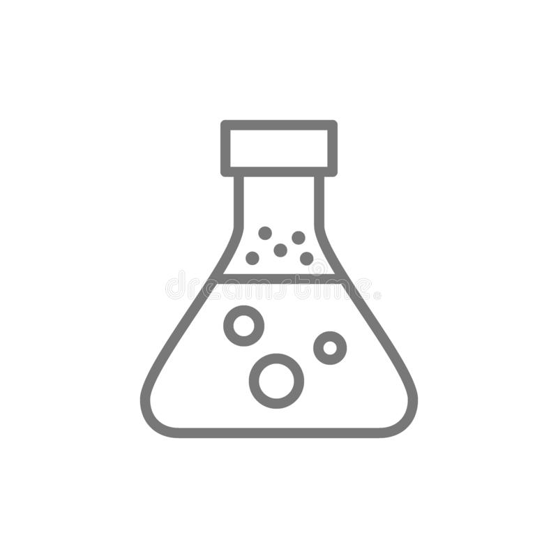 Chemical Experiment Outline Icon Stock Vector