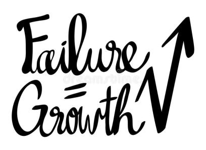 Expression For Phrase Failure Growth Stock Vector - Illustration of language, font: 99084309