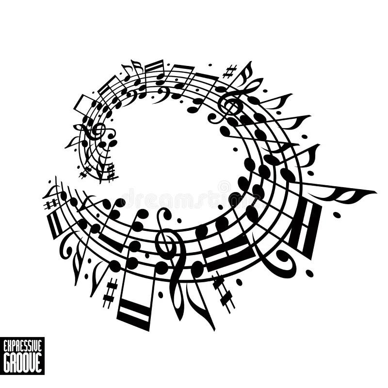 Expressive Groove Concept. Black And White Design. Stock
