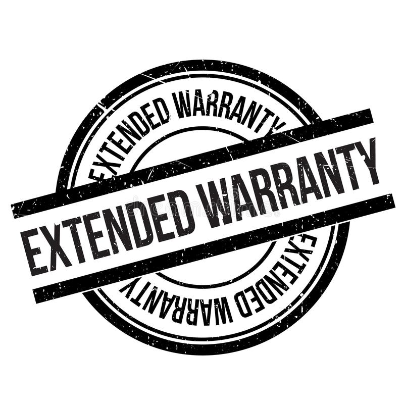 Warranty Seal rubber stamp stock vector. Illustration of