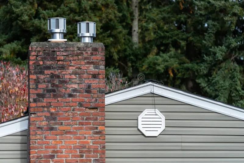 attic exhaust vent stock photo image