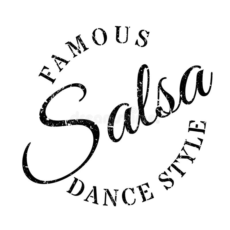 Famous Dance Style, Calypso Stamp Stock Illustration