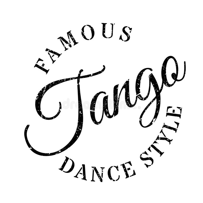 Famous Dance Style, Jazz Dance Stamp Stock Vector
