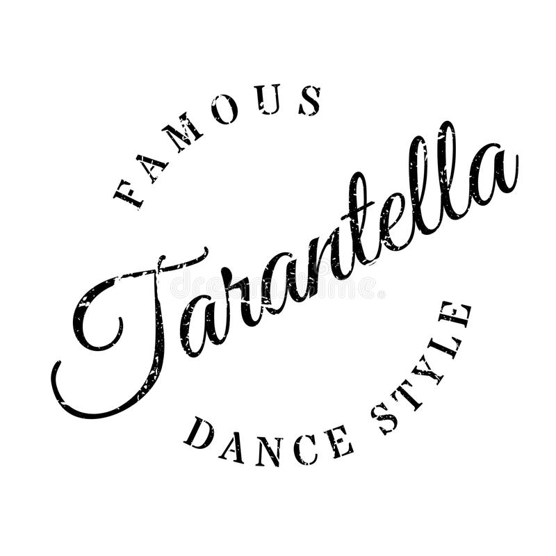 Famous Dance Style, Cha-Cha-Cha Stamp Stock Vector