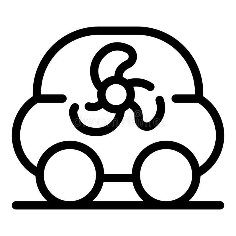 Eco Dashboard Icon, Outline Style Stock Vector