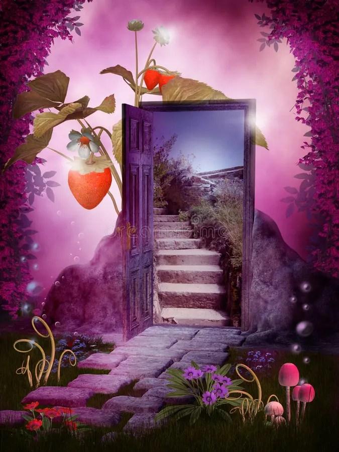 Fall Fairy Wallpaper Fantasy Door Stock Illustration Illustration Of Fantasy