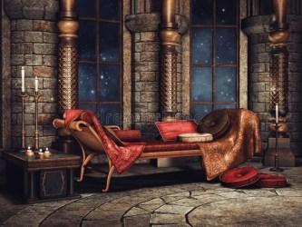palace fantasy chamber arabian interior sofa illustration preview