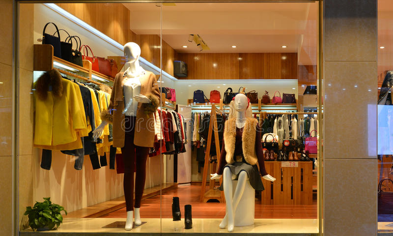 Fashion Boutique Display Window With Mannequins, Go