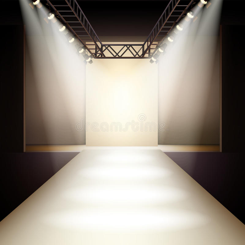 Blue Fashion Runway Background
