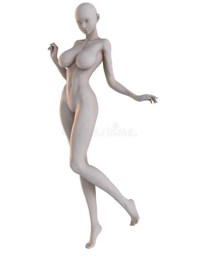 Female Anime Poses : female, anime, poses, Female, Anime, Hither, Stock, Photo, Illustration, Posing,, Figure:, 79941086