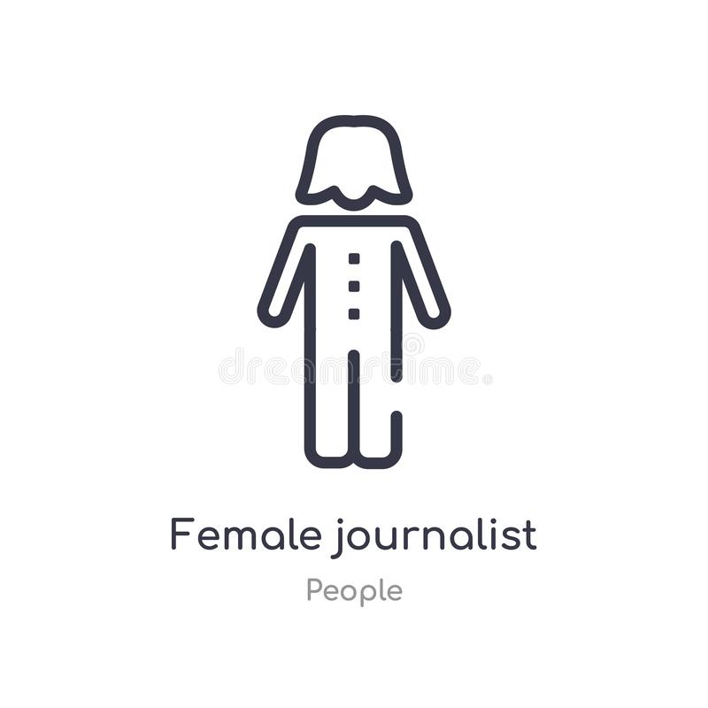 Female Journalist With Badge Holding Microphone Stock
