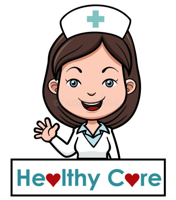 female nurse stock vector. illustration