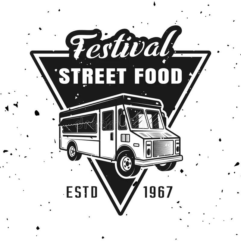Food Truck Festival Advertising Vintage Poster Stock