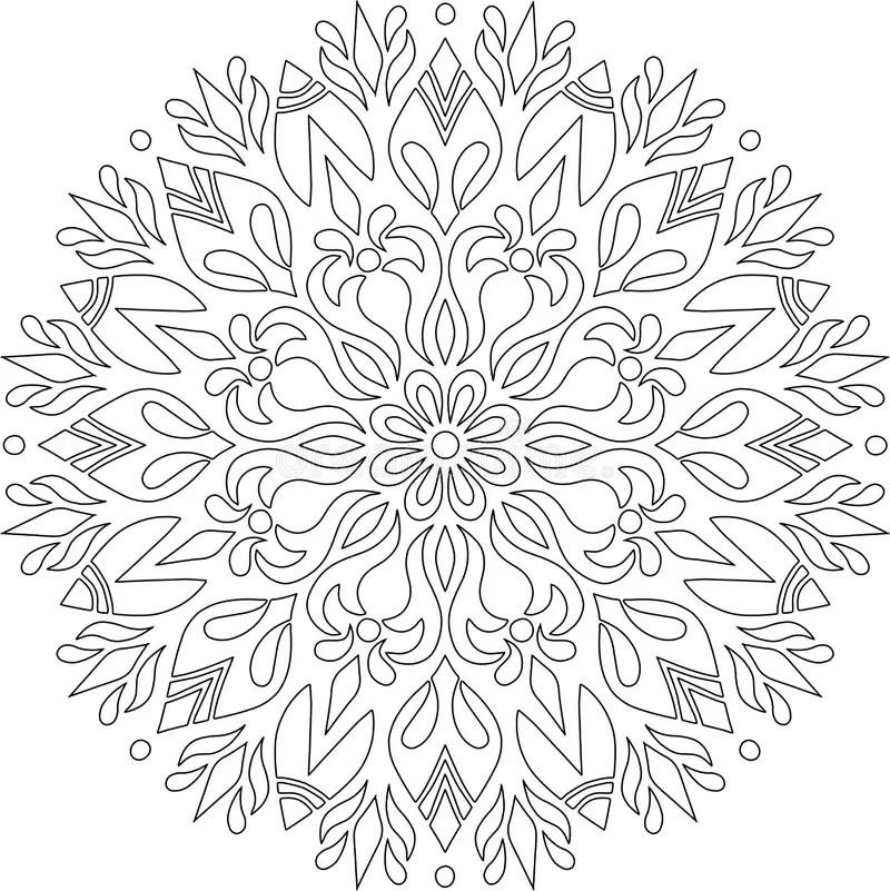 Figure Mandala For Coloring Stock Illustration