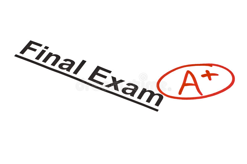 Final Exam Marked With A+ stock image. Image of schooltime