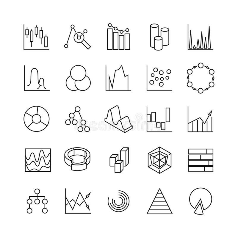 Set Flat Design Of Statistics And Analytics Icons With