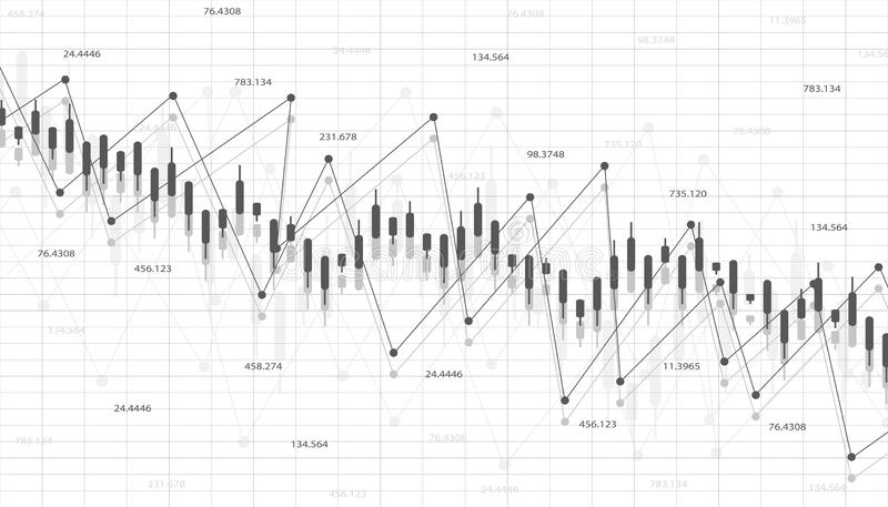 Economic Graph With Diagrams On The Stock Market, For