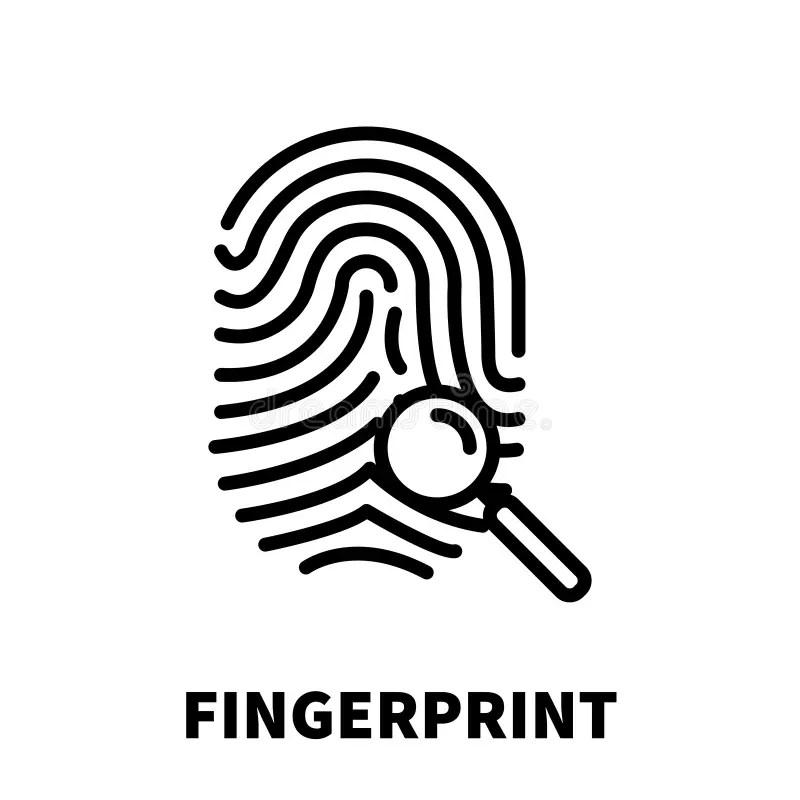 Fingerprint Icon Or Logo In Modern Line Style Stock Vector