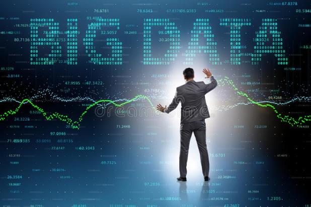 The Fintech Financial Big Data Concept With Analyst Stock ...