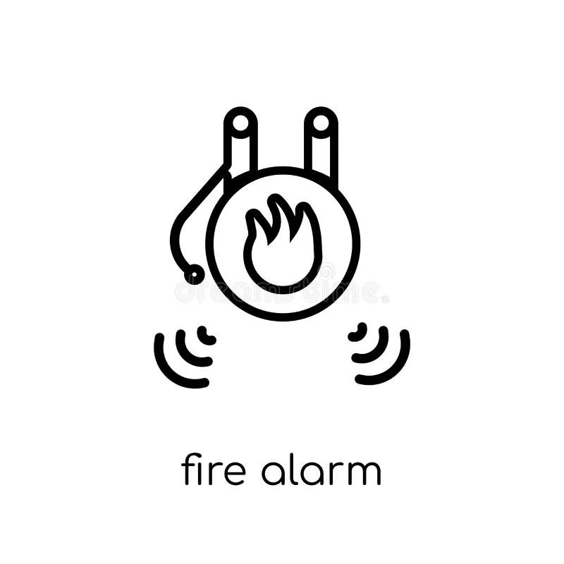 Fire Alarm Icon. Trendy Flat Vector Fire Alarm Icon On