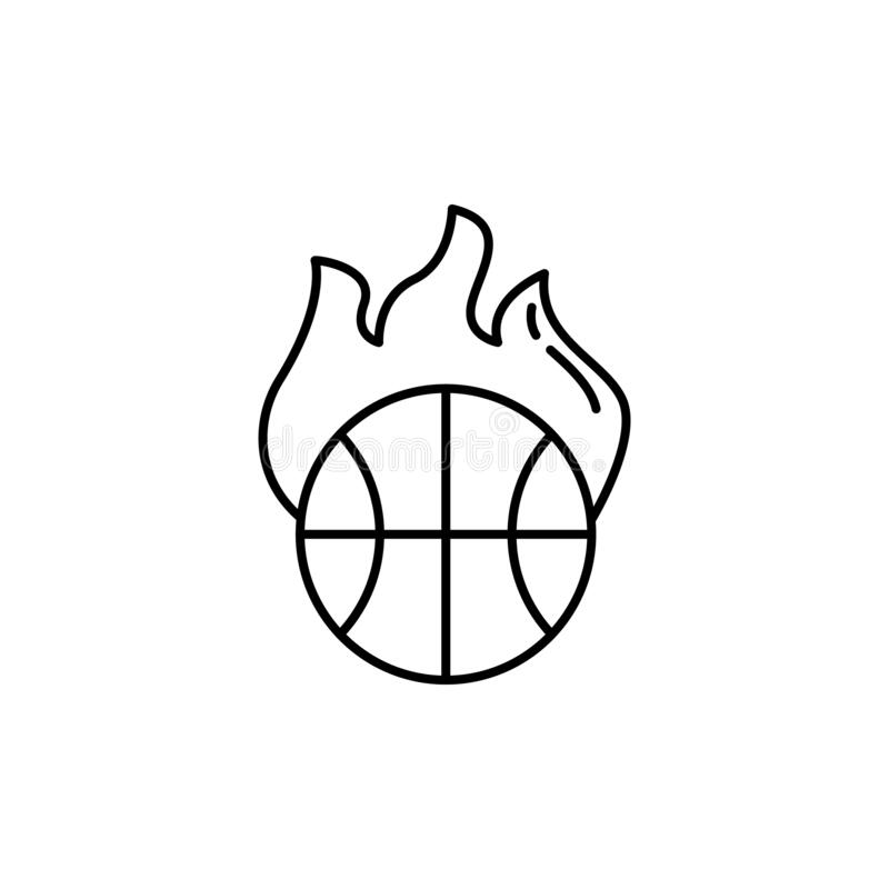 Basketball Flaming Emblem stock vector. Illustration of
