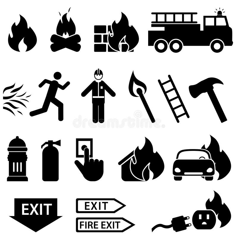 Astounding Emergency Exit And Fire Truck Vector Illustration Auto Electrical Wiring Cloud Peadfoxcilixyz