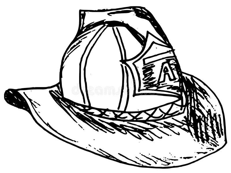 fireman helmet stock vector