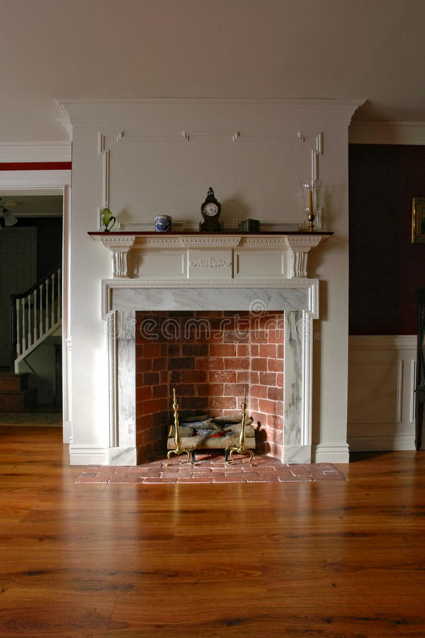 Fireplace In Antique Colonial Style Home Interior Stock Photo  Image of interior floor 12269530