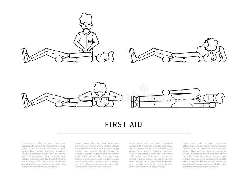 CPR technique stock illustration. Illustration of cardio